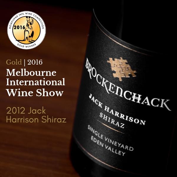 600x600 Brockenchack 2012 Jack Harrison Shiraz GOLD MEDAL MIWS